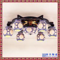 陶瓷灯具 中式实木陶瓷客厅吊灯 大厅别墅古典餐厅灯具复古灯饰