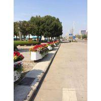 pvc桶形花箱pvc桶形组合花箱城市道路景观花箱pvc户外花箱工程