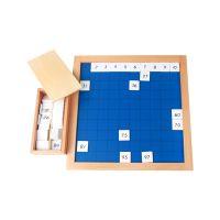 蒙氏数学教具 幼儿园儿童专业早教玩具 一百板 毕达哥拉斯板