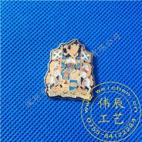 硬石徽章定制/深圳珐琅徽章/五金胸徽生产厂