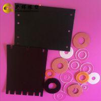 专业加工安全镜片PC垫片黑色防火垫片 绝缘磨砂PP垫片