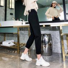 广州便宜秋季新款女士弹力牛仔裤女装学生修身小脚裤铅笔女式长裤子韩版