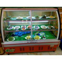 超市便利店熟食柜 弧形前开门熟食柜 凉菜陈列冷藏柜