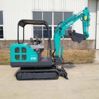 挖掘机 小型挖沟机厂家 汇鹏机械欢迎现场试机订购小型农用挖掘机