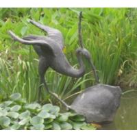玻璃钢雕塑,景观雕塑,人物卡通动物等 鹤蚌相争