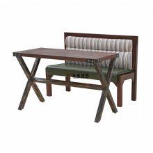 江门港式餐厅卡座桌子订做,中式饭店板式卡座沙发