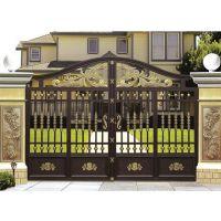 加工定制金爵仕铝艺铝合金庭院大门的优点显著