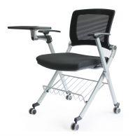 厂家MDJ-XZ05D麦德嘉生产多功能可侧翻培训椅高品质大学生学校上课金属脚写字椅