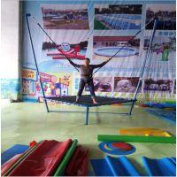 弹跳飞天蹦极方形蹦蹦床 单人蹦床价格儿童蹦极 小蹦极跳床安全带钢架跳床