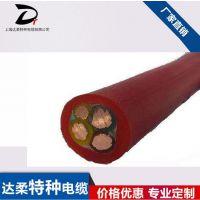 供应达柔牌耐高温电缆200℃以上柔性耐弯曲硅橡胶电缆/可定制