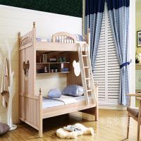 东华家居大卖场供应现代简约实木双层儿童床 现货供应 欢迎订购!