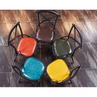 倍斯特定制美式乡村金属X椅复古工业风餐厅铁艺椅火锅湘菜餐椅