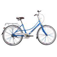 亿族产地货源自行车 新款女式轻便高碳钢24寸普通通勤自行车