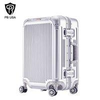 PB铝框拉杆箱女旅行箱包28寸登机箱行李箱男静音万向轮密码箱子