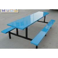 需要公司食堂餐桌椅-工人饭堂餐桌椅-八人连体玻璃钢餐桌椅找勇飞家具