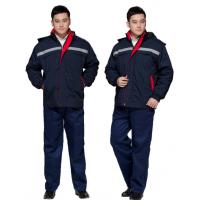 加厚冬季工作服 棉衣劳保服装冬装外套 男女工程棉服防寒服定做
