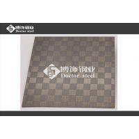 不锈钢镀铜拉丝压纹板,不锈钢小方格压花板,不锈钢红古铜装饰板