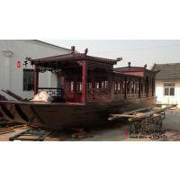 画舫游船客船定做 带证的船含动力观光船厂家