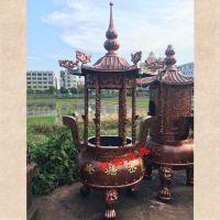 禅相法器专业铸造祠堂圆形香炉,宗祠插香铜香炉。