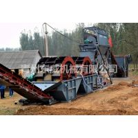 湖北武汉带着破碎设备的两次水洗制沙机械