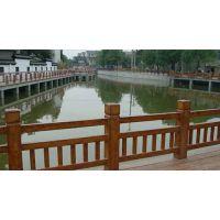 人山硅胶模具厂专业模具定制 仿木水泥栏杆河道仿木护栏模具