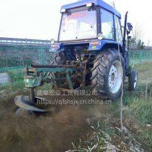 汽油手推式电线杆挖坑机 拖拉机牵引式挖坑机