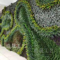 复杂工艺的仿真植物墙哪家工厂会做?浩晟专业制作仿真植物墙 高档酒店装饰复杂工艺可接受来图定制上门安装