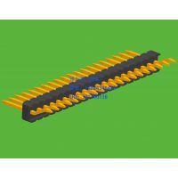 1.27mm间距单排排针卧贴焊板系列