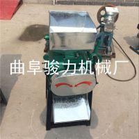 新型拉丝对辊挤扁机 颗粒粮食挤压机 豆子电动压扁机 骏力热销