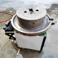 邦腾供应香油麻汁电动石磨机 天然石材低温研磨香油小石磨