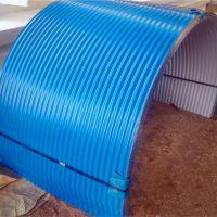 供应彩钢防雨罩 输送机防雨罩 弧形彩钢瓦