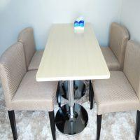 海德利 简约现代 实木餐桌椅组合长方形一桌四六椅餐椅餐桌餐厅成套家具