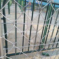 供应体育场勾花护栏,PVC墨绿色菱形孔围网