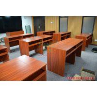 多媒体教师讲台 板式翻转电脑桌 学生电教室办公桌