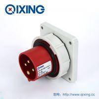 QIXING启星QX827 4芯 16A IP67高端型工业暗装插头 3C认证