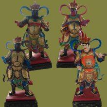 厂家定做 树脂彩绘寺庙神像 四大天王佛像 大型神像批发