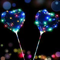 七彩发光圆形波波球-宣彩气球