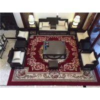 郑州酒店餐厅地毯 郑州高档餐厅包房地毯 郑州防火尼龙印花地毯