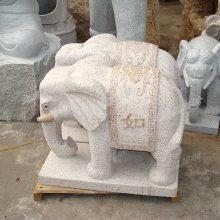 石雕花岗岩大象 厂家定做企业寺庙酒店门口摆放招财如意石雕大象