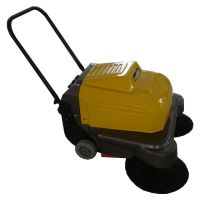 小区道路专用扫地机清扫地面灰尘碎屑用威德尔手推式双刷扫地机WX-100P