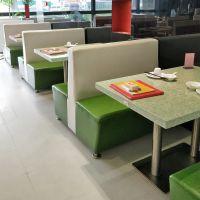 荆州市快餐店木质单双卡座奶茶店甜品店简约现代快餐桌椅