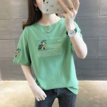 2018夏季热卖女装短袖地摊几元女式T恤厂家直销 3-10元便宜服饰
