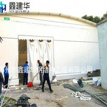 绍兴大型活动帐篷板房 布 柯桥区推拉雨棚跨度12米深度6米主柱间距应该多大