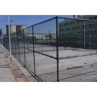 厂家定制安装余干体育运动球场防护栏网 宜春学校操场组装包塑铁丝围栏