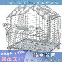 带盖仓储笼|重型移动式周转箱|物流大铁笼多钱