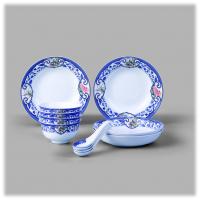陶瓷家用中式碗碟盘勺套装和瓷青花瓷餐具四季呈祥组合高档商务会议礼品