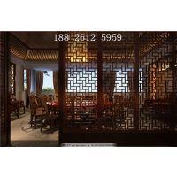 餐厅隔断屏风中式铝花格