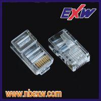 供应超超五类六类高品质镀金0F-50U水晶头