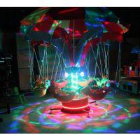 直销新款椰子树飞鱼广场秋千飞鱼 广场可移动飞鱼设备 彩灯带遥控公园飞鱼玩具