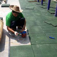 幼儿园彩色安全地砖 永州小区公园铺防滑橡胶地板 剑桥体育橡胶地垫